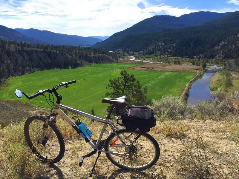 Near near the Shackan Band on hwy 8 between Merritt and Spences Bridge with the Nicola R below PC DArcy McLeod